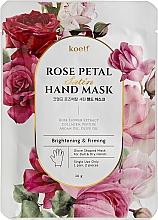 Voňavky, Parfémy, kozmetika Spevňujúca maska na ruky vo forme rukavíc - Petitfee&Koelf Rose Petal Satin Hand Mask