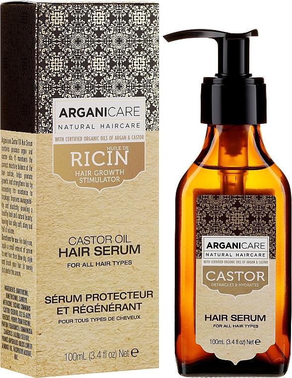 Sérum na rast vlasov - Arganicare Castor Oil Hair Serum