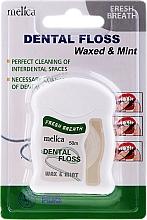 Voňavky, Parfémy, kozmetika Zubná niť s mätovou príchuťou - Melica Organic Dental Floss Waxed & Mint
