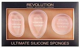 Voňavky, Parfémy, kozmetika Sada silikónových huby - Makeup Revolution Ultimate Silicone Sponge Set