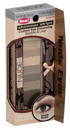 Paleta tieňov na viečka - Physicians Formula Shimmer Strips Custom Eye Enhancing Shadow & Liner Nude Eyes — Obrázky N2