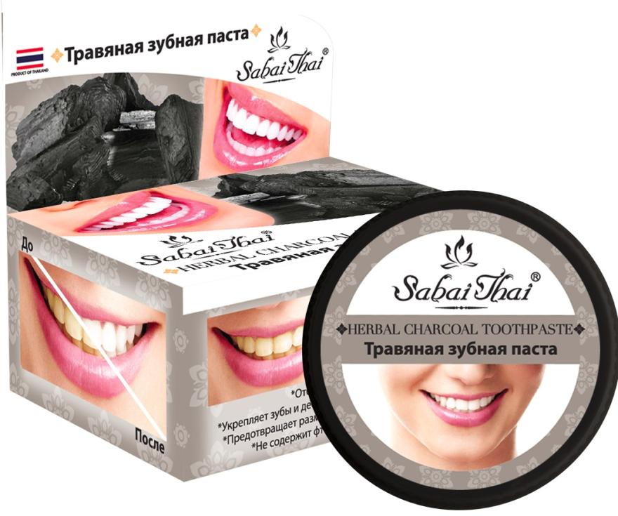 Zubná pasta s uhlím - Sabai Thai Herbal Charcoal Toothpaste