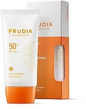 Voňavky, Parfémy, kozmetika Ochranná opaľovacia krémová báza na tvár - Frudia Tone Up Base Sun Cream SPF50