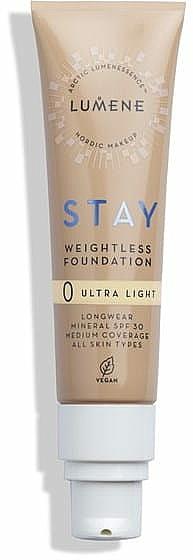 Ľahký odolný make-up - Lumene Stay Weightless Foundation Longwear Mineral SPF 30