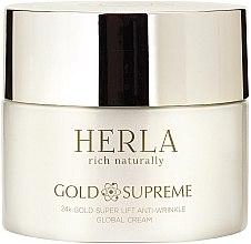 Voňavky, Parfémy, kozmetika Krém na tvár - Herla Gold Supreme 24K Gold Super Lift Anti-Wrinkle Global Cream