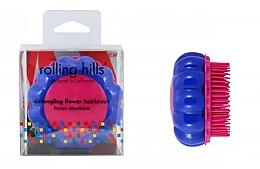 """Voňavky, Parfémy, kozmetika Kompaktná kefa na vlasy """"Harmanček"""", modrá / ružová - Rolling Hills Brosse Desenredar Flower"""
