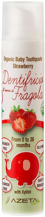 """Detská zubná pasta """"Jahoda"""" - Azeta Bio Organic Baby Toothpaste Strawberry — Obrázky N1"""