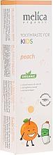 """Voňavky, Parfémy, kozmetika Detská zubná pasta """"Broskyňa"""" - Melica Organic Toothpaste For Kids Peach"""