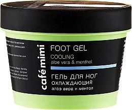 Voňavky, Parfémy, kozmetika Chladiaci gél na nohy s aloe vera a mentolom - Cafe Mimi Foot Gel Cooling Aloe Vera & Menthol