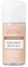 Voňavky, Parfémy, kozmetika Kokosový olej na nechty a kutikuly - Astra Make-up Sos Nails Care Coconut Rich Oil