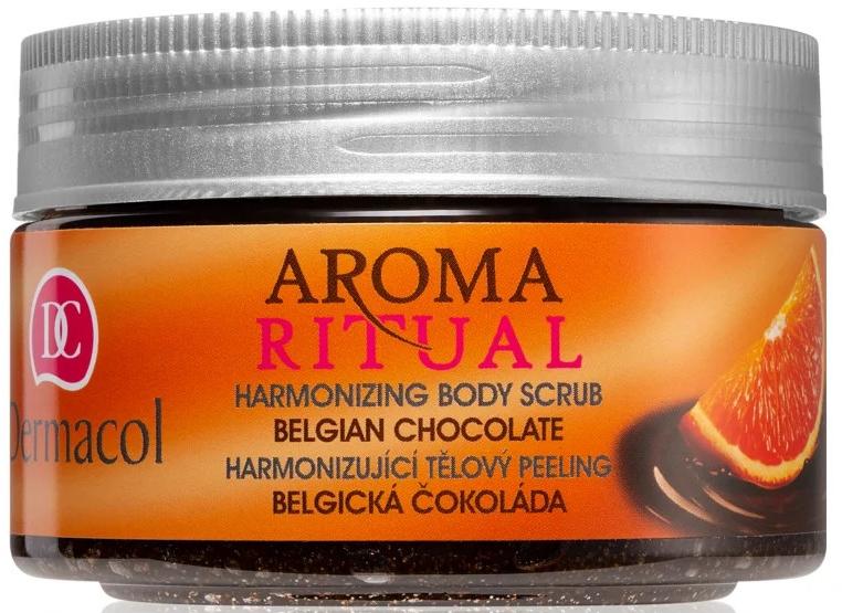 """Peeling na telo """"Belgická čokoláda"""" - Dermacol Aroma Ritual Body Scrub"""