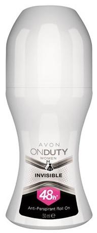 "Antiperspirantový dezodorant ""Ochrana proti škvrnám"" - Avon On Duty Invisible 48H Anti-persrirant"