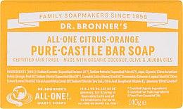 """Voňavky, Parfémy, kozmetika Mydlo """"Citrus a Orange"""" - Dr. Bronner's Pure Castile Bar Soap Citrus & Orange"""