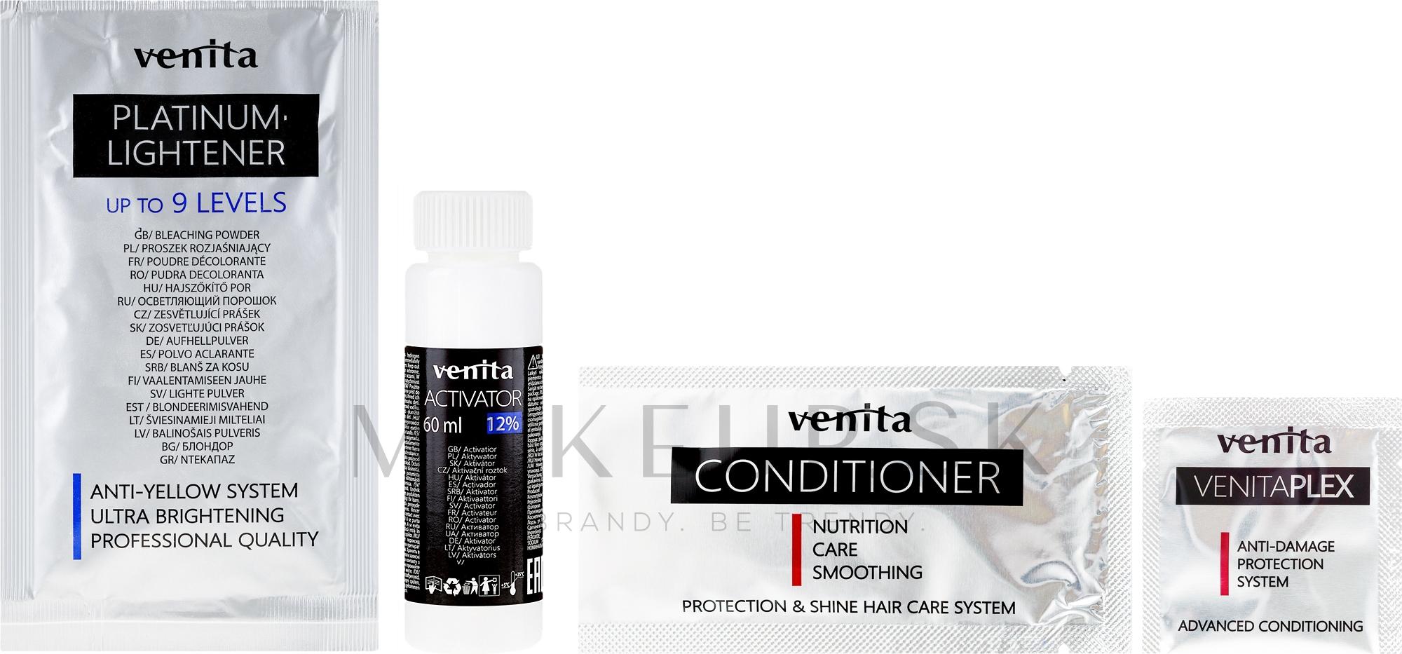 Zosvetľovač o 9 tónov - Venita Plex Platinum Lightener — Obrázky 10.01 - Ash Blond