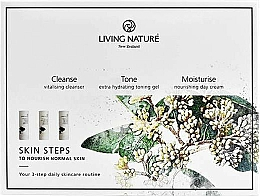 Voňavky, Parfémy, kozmetika Sada - Living Nature Skin Steps To Normal Nourish Skin (milk/50ml + gel/50ml + cr/50ml)