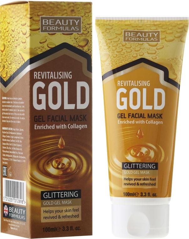Maska na hĺbkové čistenie - Beauty Formulas Gold Gel Facial Mask