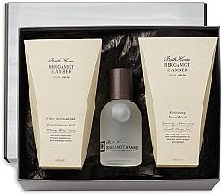 Voňavky, Parfémy, kozmetika Bath House Bergamot & Amber - Sada (edc/100ml + f/wash/100ml + f/cr/100ml)