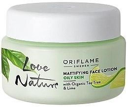 Voňavky, Parfémy, kozmetika Zmatňujúci balzam na tvár s organickým čajovníkom a limetou - Oriflame Love Nature Mattifyng Face Lotion