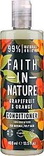 """Voňavky, Parfémy, kozmetika Kondicionér pre normálne a mastné vlasy """"Grapefruit a pomaranč"""" - Faith In Nature Grapefruit & Orange Conditioner"""
