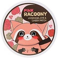 Voňavky, Parfémy, kozmetika Hydrogélové náplasti na oči a lícne kosti - Secret Key Pink Racoony Hydro-Gel Eye & Cheek Patch