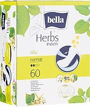 Voňavky, Parfémy, kozmetika Hygienické vložky Panty Herbs Tilia, 60 ks - Bella