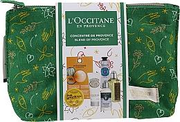 Voňavky, Parfémy, kozmetika Sada - L'Occitane Christmas Set (balm/15ml + f/mask/6ml + b/milk/20ml + h/cr/10ml + shm/35ml + sh/gel/30ml + bag)