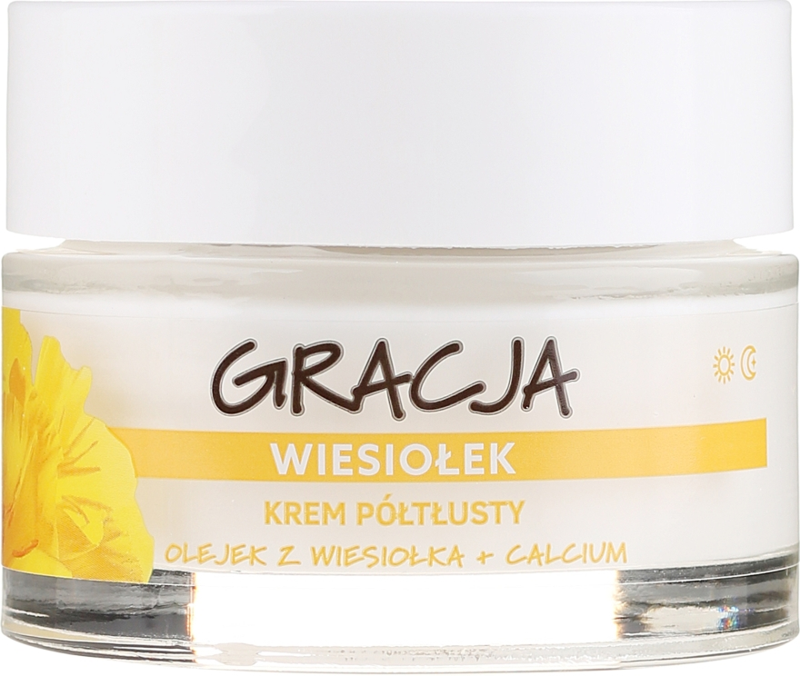 Výživný krém s olejom z pupalky - Gracja Semi-oily Cream With Evening Primrose — Obrázky N2