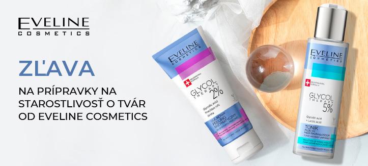 Zľava na prípravky na starostlivosť o tvár od Eveline Cosmetics. Ceny na stránke sú uvedené so zľavou
