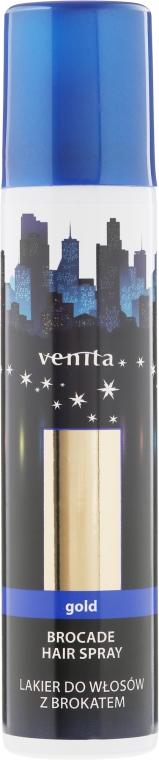 Glitterový lak na vlasy - Venita Gold Brocade Hair Spray