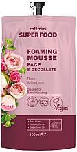 Voňavky, Parfémy, kozmetika Penivá krémová maska na tvár a dekolt, ruža a oregano - Cafe Mimi Super Food