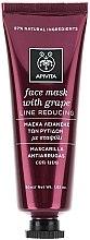 Voňavky, Parfémy, kozmetika Maska na tvár proti vráskam s hroznom - Apivita Moisturizing Fase Mask With Grape