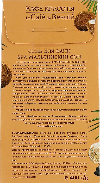 "Soľ do kúpeľa ""SPA Maltský sen"" - Le Cafe de Beaute Sel De Bain Spa — Obrázky N2"