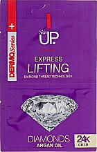 Voňavky, Parfémy, kozmetika Expresná liftingová maska na tvár s 24 karátovým zlatom a diamantmi - Verona Laboratories DermoSerier Skin Up Express Lifting Diamonds 24k Gold