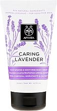 """Voňavky, Parfémy, kozmetika Hydratačný a upokojujúci krém pre citlivú pokožku tela """"Levanduľa"""" - Apivita Caring Lavender Hydrating Soothing Body Lotion"""