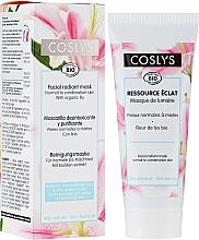 Voňavky, Parfémy, kozmetika Maska pre žiarivosť pokožky tváre s extraktom ľalie pre normálnu a kombinovanú pleť - Coslys Facial Care Radiant Mask With Lily Extract