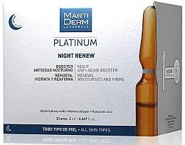 Voňavky, Parfémy, kozmetika Nočné ampulky na tvár proti fotostarnutia - MartiDerm Platinum Night Renew Ampollas