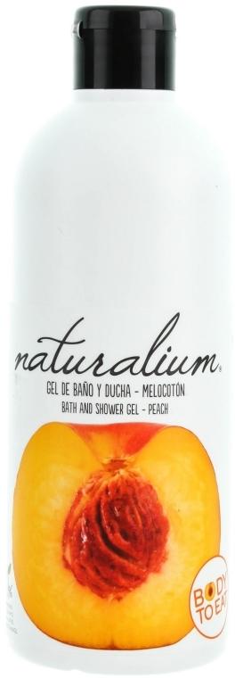 """Výživný sprchový gél krém """"Broskyňa"""" - Naturalium Bath And Shower Gel Peach — Obrázky N1"""