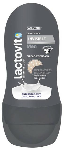Guľôčkový dezodorant - Lactovit Men Invisible Deodorant Roll-On — Obrázky N1