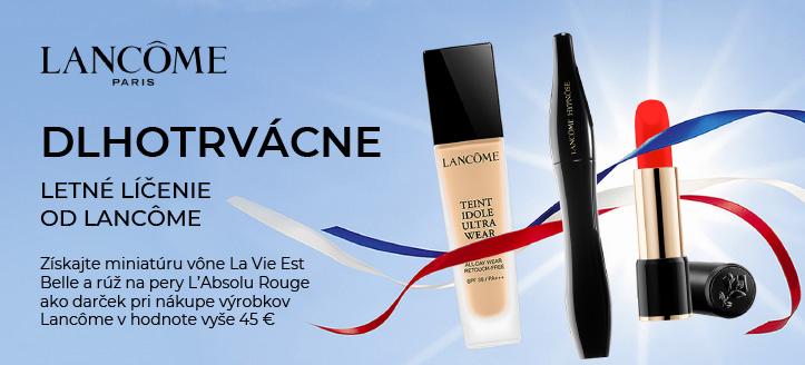 Pri nákupe výrobkov na líčenie od Lancôme v hodnote vyše 45 € získajte miniatúru vône La Vie Est Belle a rúž L'Absolu Rouge ako darček