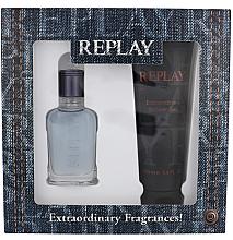 Voňavky, Parfémy, kozmetika Replay Jeans Spirit! For Him - Sada (edt/30ml + sh/gel/100ml)