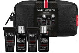 Voňavky, Parfémy, kozmetika Sada - Baylis & Harding Signature Men's Black Pepper & Ginseng Wash Bag(hair/body/wash/100ml+a/sh/balm/50ml+face/wash/100ml+sh/gel/50ml+bag)