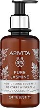 """Voňavky, Parfémy, kozmetika Hydratačné telové mlieko """"Prírodný jazmín"""" - Apivita Pure Jasmine Moisturizing Body Milk"""