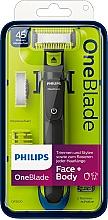 Voňavky, Parfémy, kozmetika Elektrický holiaci strojček na tvár a telo - Philips OneBlade Face + Body QP2620/20
