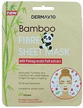 Voňavky, Parfémy, kozmetika Textilná maska na tvár z bambusového vlákna s granátovým jablkom - Derma V10