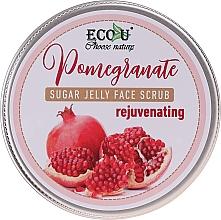"""Voňavky, Parfémy, kozmetika Cukrový scrub na tvár """"Omladzujúce granátové jablko"""" - Eco U Sugar Jelly Face Scrub"""