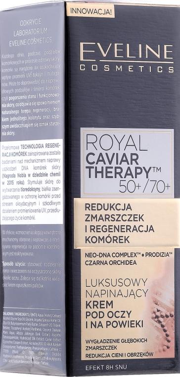 Luxusný vyhladzujúci očný krém - Eveline Cosmetics Royal Caviar Therapy Eye Cream