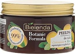 """Voňavky, Parfémy, kozmetika Telový peeling """"Citrón a mäta"""" - Bielenda Botanic Formula Lemon Tree Extract + Mint Body Scrub"""
