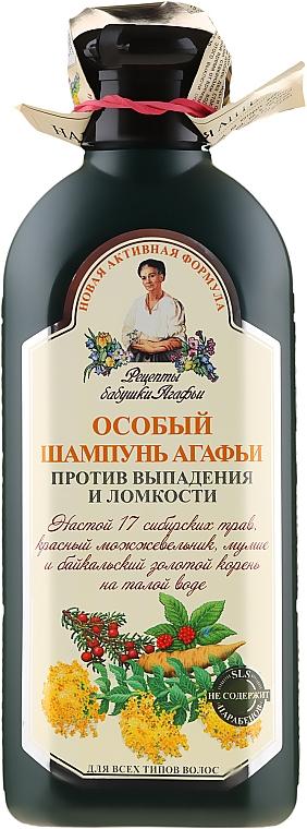 Špeciálny šampón Agafie proti vypadávaniu vlasov a krehkosti - Recepty babičky Agafy