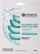 Voňavky, Parfémy, kozmetika Hydratačná textilná maska s aloe a kyselinou hyalurónovou - Garnier Skin Naturals Hyaluronic Aloe Tissue Mask