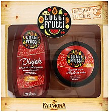 """Voňavky, Parfémy, kozmetika Sada """"Višňa a ríbezle"""" - Farmona Tutti Frutti (oil/425ml + b/oil/200ml)"""